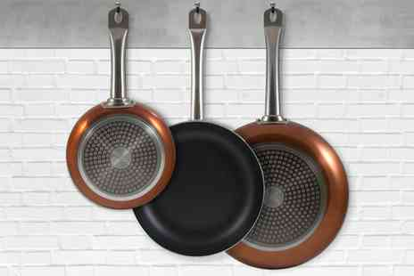 Groupon Goods Global GmbH - San Ignacio Three Piece Copper Pan Set - Save 0%