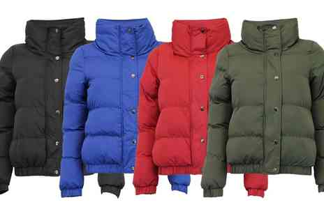 Groupon Goods Global GmbH - Brave Soul Funnel Necked Padded Jacket in Choice of Design - Save 0%