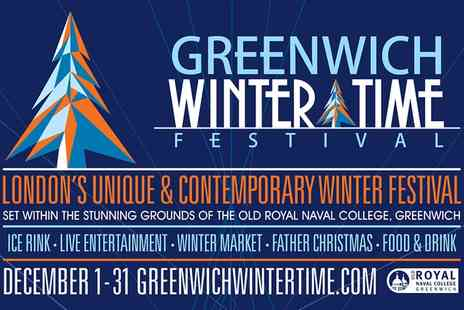 Greenwich Winter Time Festival - One adult, child or family ticket for two adults and two children to see Greenwich Winter Time Festival 2 To 31 December 2017 - Save 0%