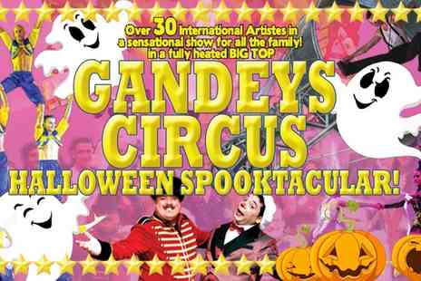 Gandeys Circus - Side View Ticket to Gandeys Halloween Spooktacular Circus on 21 To 26 October - Save 50%