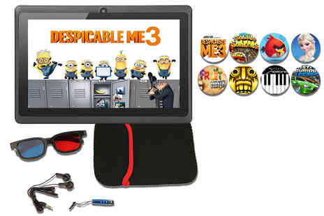 Mobi Trends - Seven inch kids quad core Android 6.1 tablet bundle with 27 games preinstalled - Save 75%