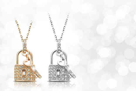 Evoked Design - Lock and key pendant necklace - Save 89%