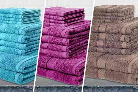 Groundlevel - 10 piece towel bundle choose from 13 colours - Save 86%