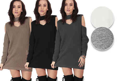 Be Jealous - Chunky knit destroyed look jumper - Save 45%