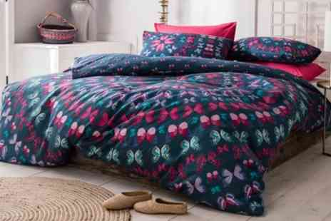 Groupon Goods Global GmbH - Butterfly Mandala Duvet Set in Choice of Size and Colour - Save 63%