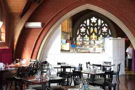 Plates & Co. - Meal & wine for 2 in former chapel near Bournemouth - Save 50%