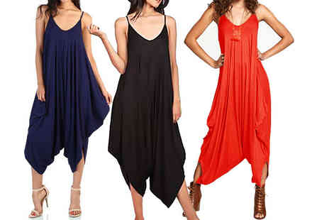 Verso Fashion - Baggy harem jumpsuit choose from four colours - Save 77%