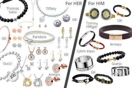 Gray Kingdom - Mystery jewellery deal for him or her from Gray Kingdom, Pandora, Thomas Sabo, Guess, Calvin Klein, Armani and more - Save 0%