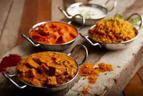 Saffron - Two Course Indian Meal with a Side and a Choice of Beer or Wine for Two or Four - Save 55%