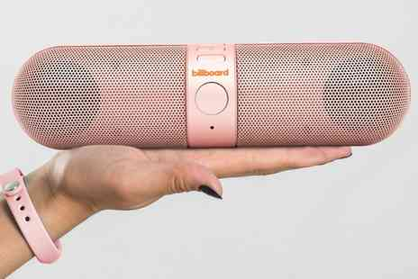 Groupon Goods Global GmbH - One or Two Billboard Pill Bluetooth Wireless Speakers - Save 74%