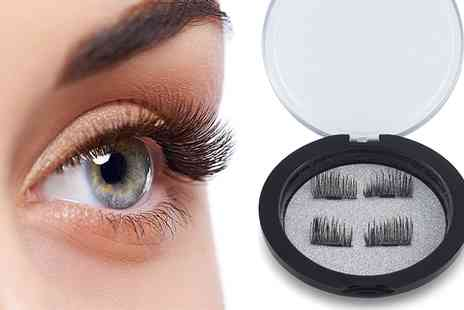 Groupon Goods Global GmbH - Up to Four Pairs of Reusable Intense Volume Magnetic Eyelashes - Save 44%