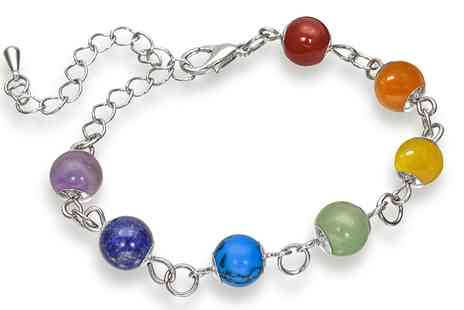 Groupon Goods Global GmbH - One or Two Chakra Gemstone Bracelets - Save 88%