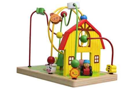 Groupon Goods Global GmbH - Lelin Wooden Farm Animals Bead Frame - Save 51%