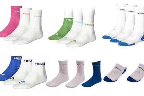 Groupon Goods Global GmbH - Two or Three Pairs of Mens Head Sports Socks or Trainer Socks - Save 22%
