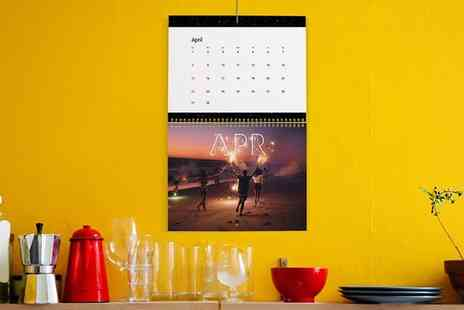 Photobook - Up to Five 6 Inch x 8 Inch or 11 Inch x 5 Inch Personalised Desk Calendars - Save 61%