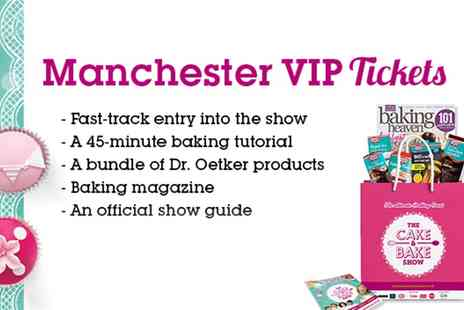 The Cake & Bake Show - One VIP ticket to The Cake & Bake Show with a classroom session on 9 To 10 November - Save 31%