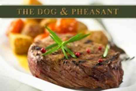 The Dog and Pheasant - 10oz Sirloin Steak Dinner For Four With Wine - Save 53%