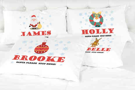 Shop Sharks - Personalised Christmas childrens pillowcase - Save 67%
