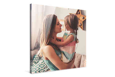 Photo Gifts - Luxurious acrylic and personalised print - Save 62%