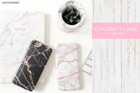 Coconut Lane - Metallic marble chrome effect iPhone case choose from two colours - Save 43%