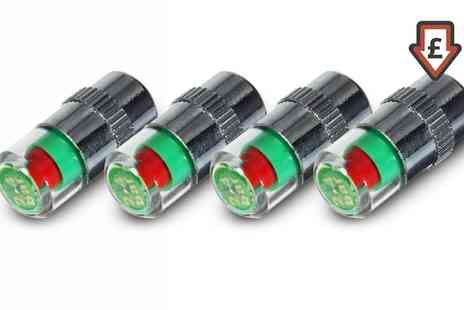 Groupon Goods Global GmbH - Four or Eight 36 PSI Tyre Pressure Valve Caps LED Indicators - Save 77%