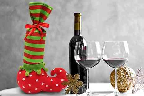 Groupon Goods Global GmbH - One, Two, Three or Four Christmas Elf Boot Bottle Bags - Save 85%