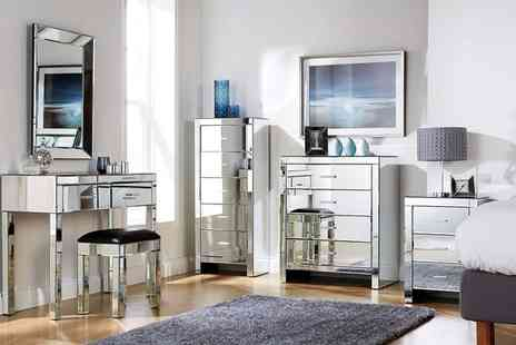 Groupon Goods Global GmbH - Romantica Mirrored Bedroom Furniture With Free Delivery - Save 0%