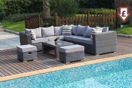 Groupon Goods Global GmbH - Papaver Fully Assembled Five, Six, Eight or Nine Seater Rattan Effect Garden Sofa Set With Free Delivery - Save 10%