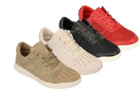 Groupon Goods Global GmbH - Mens Crosshatch Lace Up Trainers in Choice of Colour and Design - Save 0%