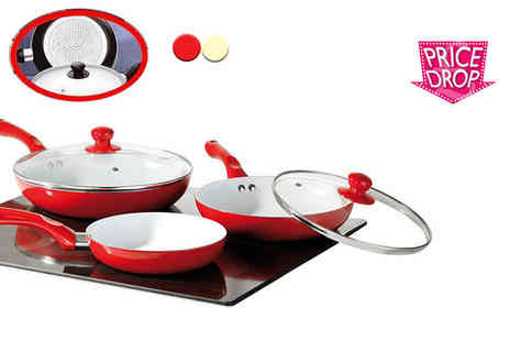 Direct 2 Publik - 5pc ceramic pan set - Save 89%
