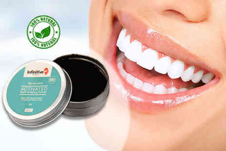 Forever Cosmetics - 50g infinitive beauty rise & shine activated instant teeth whitening charcoal & coconut shell powder - Save 87%