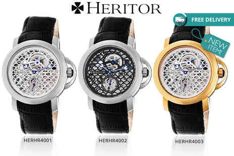 Idealdeal - Mens Heritor McKinley luxury automatic watch choose from six designs - Save 90%