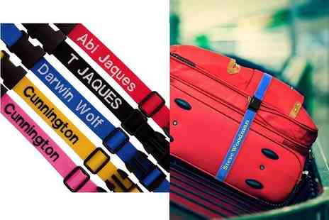 London Exchain Store - Personalised luggage strap with up to 12 letters - Save 72%