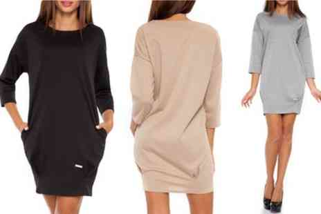 Groupon Goods Global GmbH - Elegant Cassie Jersey Dress in a Choice of Size and Colour - Save 57%