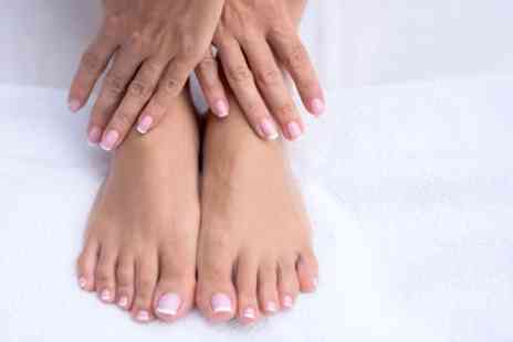 Jayne - Gelish Manicure or Pedicure or Both - Save 46%
