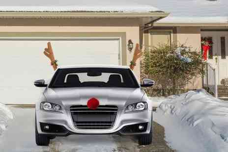 Groupon Goods Global GmbH - One or Two Plush Reindeer Antlers and Nose Sets for Cars - Save 75%