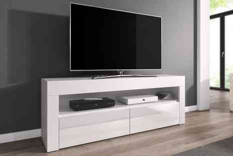 Groupon Goods Global GmbH - Luna TV Cabinet in Choice of Colour with Optional Led Rgb Lighting With Free Delivery - Save 52%