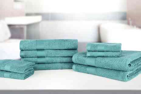 Groupon Goods Global GmbH - 10 Piece Egyptian Cotton Towel Set in Choice of Colour - Save 0%