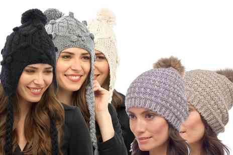 Groupon Goods Global GmbH - Womens Peruvian Styled, Pom Pom Hat or Both - Save 0%