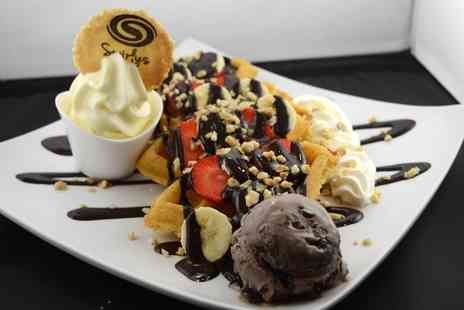 Swirlys - Choice of Waffle or Cookie Dough with Milkshake or Hot Drink for One, Two or Four - Save 39%