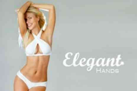 Elegant Hands - Three Waxing Sessions on Choice of Areas Such as Full Legs and Chin - Save 81%