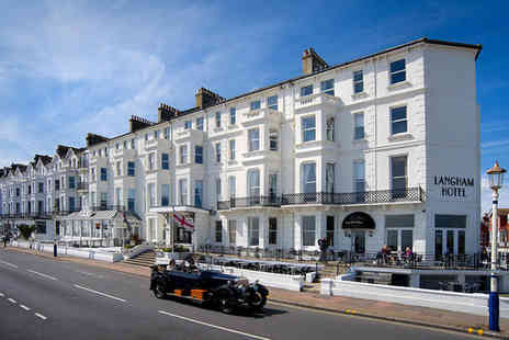 The Langham Hotel - Four Star Spectacular Seafront Getaway For Two - Save 0%