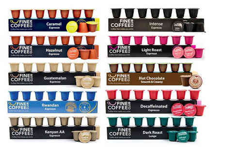Fine Coffee Club - 100 Nespresso compatible coffee and hot chocolate capsules - Save 52%