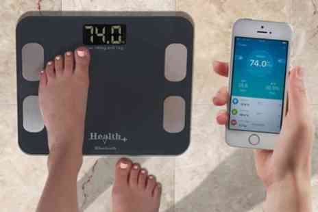 Groupon Goods Global GmbH - Smart Body Bluetooth Scales in Black or Graphite - Save 50%