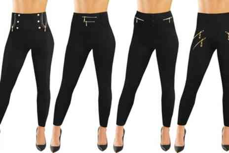 Groupon Goods Global GmbH - Two-Pack of Slimming Effect Fleece Lined Leggings - Save 0%