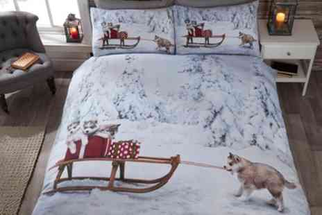 Groupon Goods Global GmbH - Rapport Home Winter Wonderland Duvet Cover Set in Choice of Design and Size - Save 63%