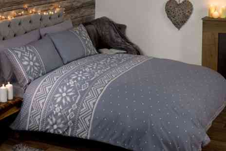 Groupon Goods Global GmbH - Festive Scandinavian Duvet Sets and Fleecy Throws - Save 57%