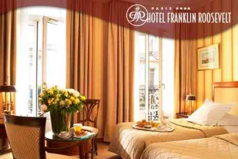 Hotel Franklin Roosevelt - One Night Paris Break For Two Including Bottle Of Chablis and River Cruise Tickets - Save 49%