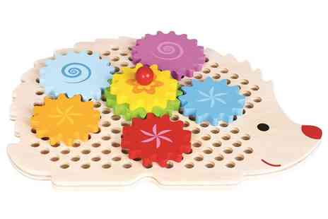 Groupon Goods Global GmbH - Lelin Wooden Hedgehog Gear Wheel Toy - Save 64%