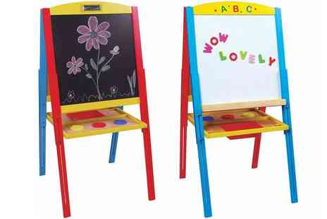 Groupon Goods Global GmbH - Lelin Wooden Double Sided Magnetic Easel - Save 30%